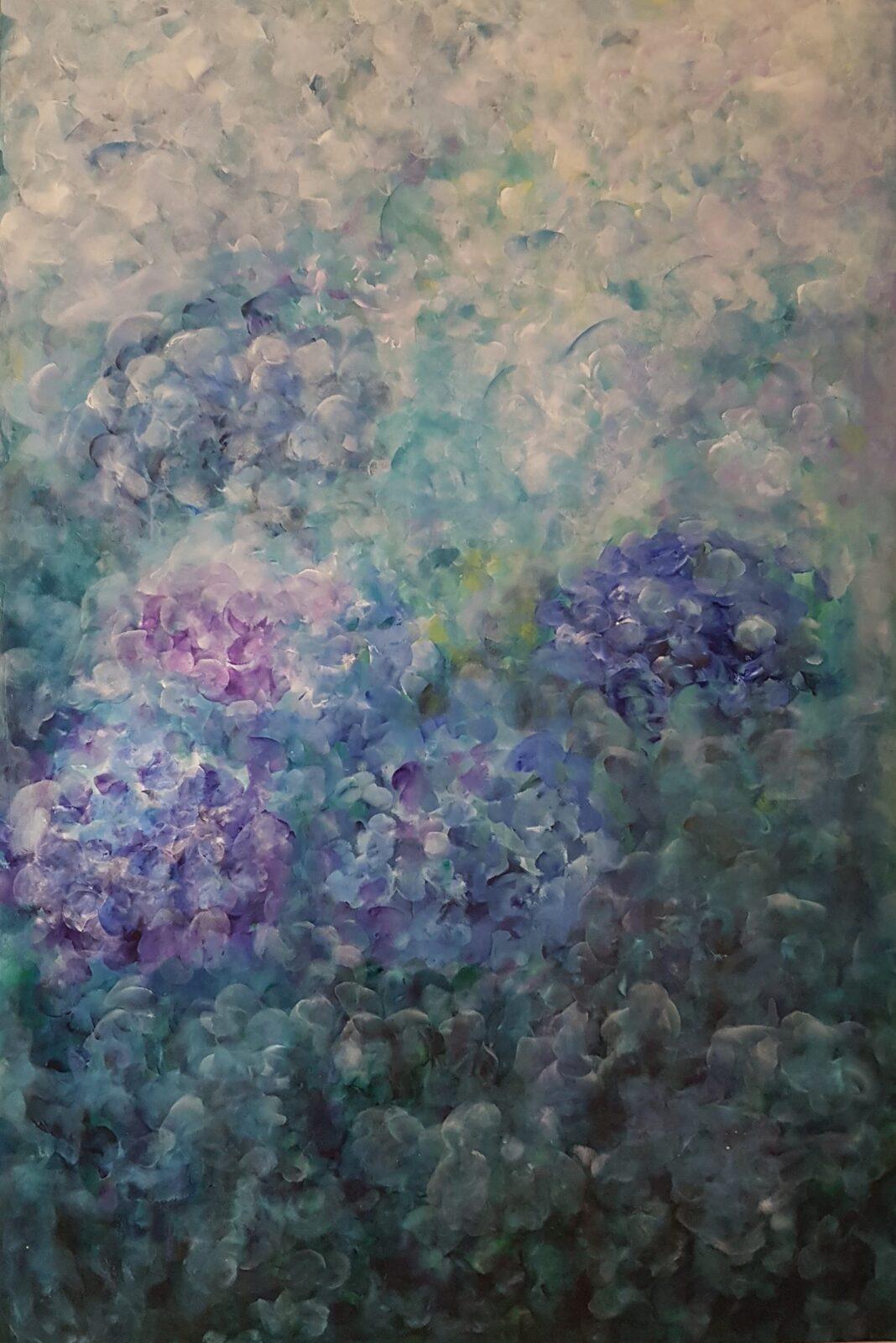 Loving blue and turquoise - Bożena Bieleniewicz