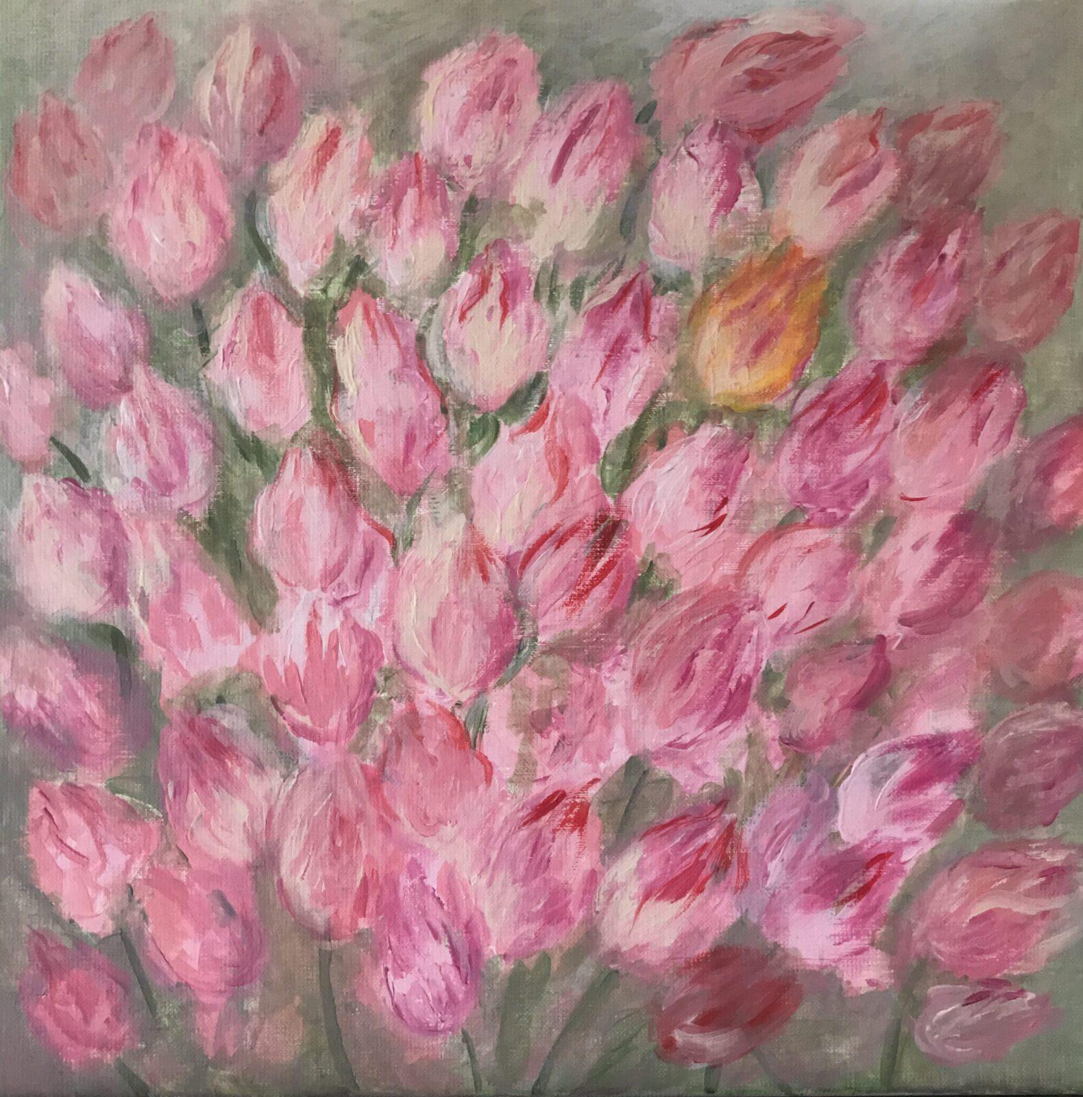 Różowe tulipany - Beata Zdankiewicz